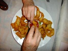 Snatching at deep fried goodness, Thailand