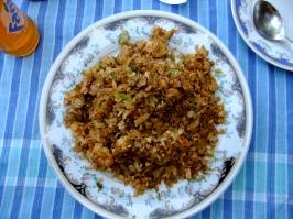 Delicious kottu roti, a bit like fried noodles but instead its chopped up pancake, Sri Lanka