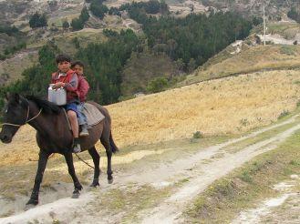 (Very) young riders, Chugchilan, Ecuador
