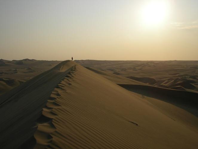 A dune sunset, Huacachina, Peru