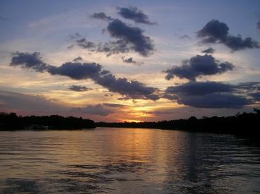 Amazon sunset, Brazil