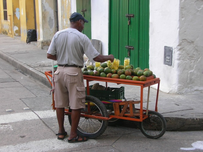 Mango stall, Colombia