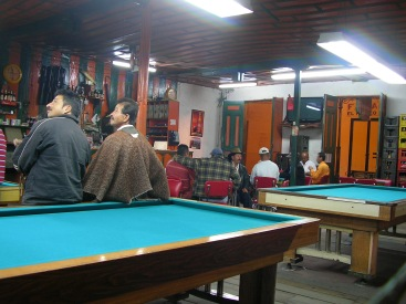 Billiard hall, Salento, Colombia