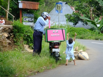 Ice cream delight, Moni, Indonesia