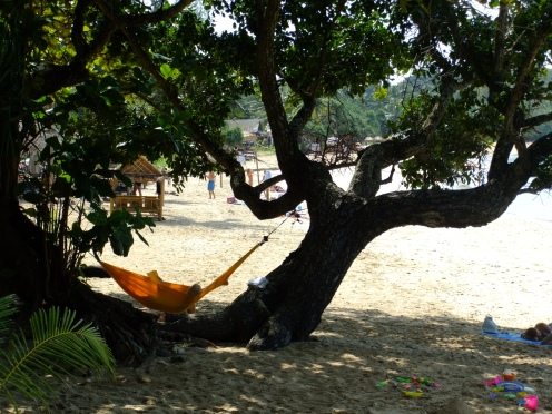Relaxing on the beach, Koh Lanta, Thailand