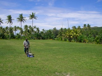 A tropical rugby pitch, Naviti, Fiji