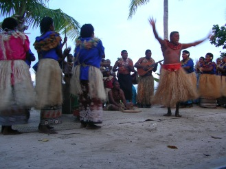 Typical Fijian dancing, Nacula, Fiji