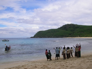 A Fijian welcome