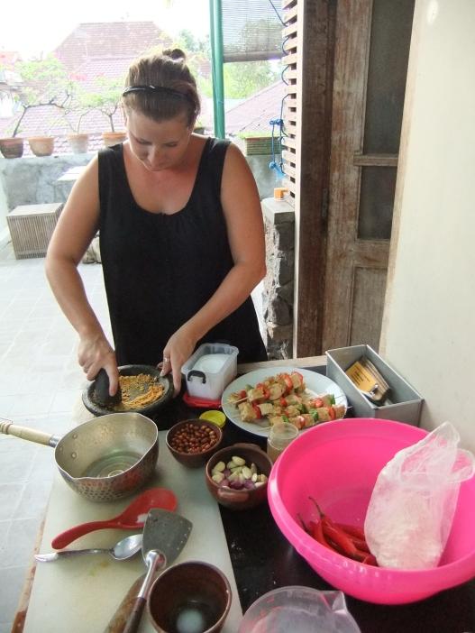 Becki prepping
