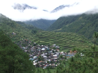Rice terraces on the way to Sagada, Philippines