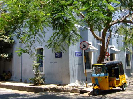 An auto-rickshaw in Pondicherry, India