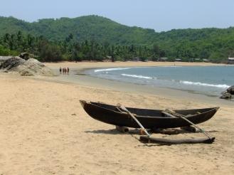 Quiet Om Beach, Gokarna, India
