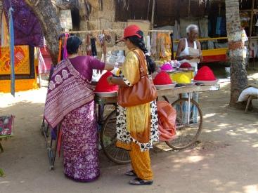 Women buying spices, Hampi, India