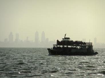 A boat coming back from Elephanta Island, Mumbai, India