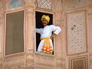 A modern day maharaja, Jaisalmer fort, India