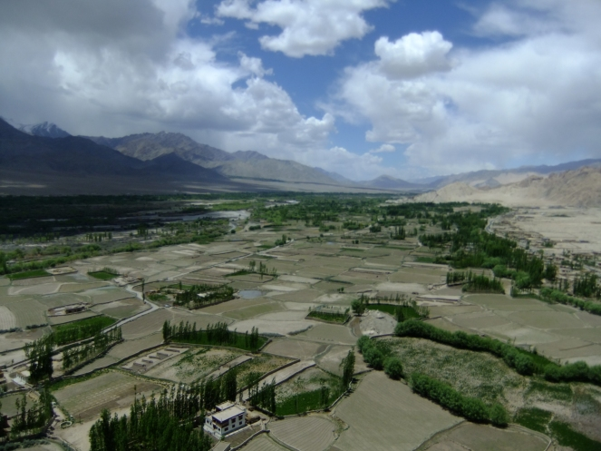 View from Thikse monastery, Ladakh, India