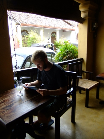 Decisions, decisions in a nice cafe, Galle, Sri Lanka