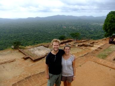 Us on top of Sigiriya rock fortress, Sri Lanka