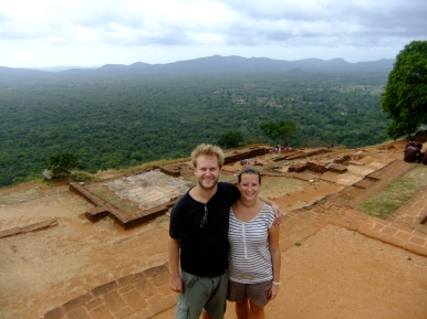 Us on top of Sigiriya rock fortress, Sri Lanka