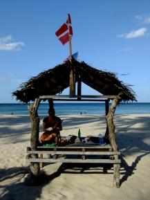 Feeling Danish on Uppuveli beach, Sri Lanka