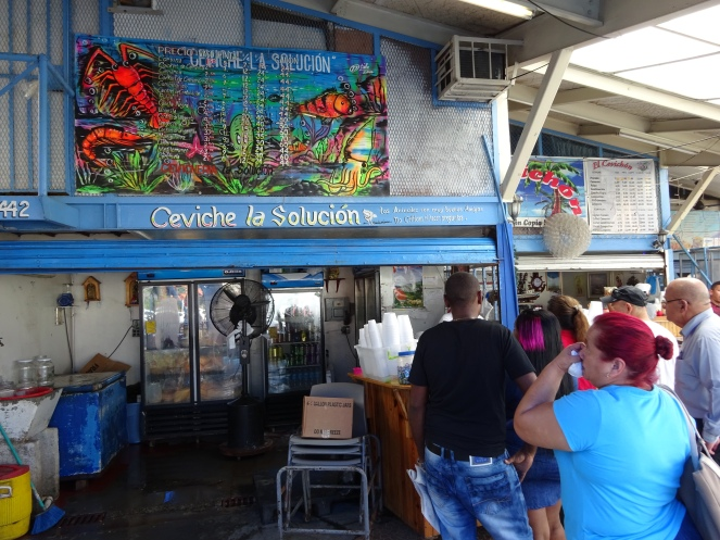 Ceviche stall