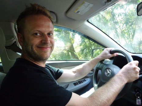 Driving and posing