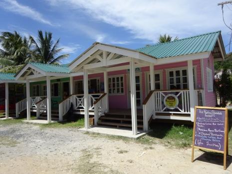 Restaurant behind the beach