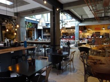 Cool indoor restaurant market