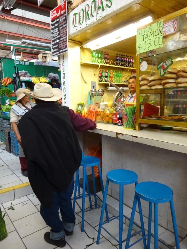 Cowboy at the market