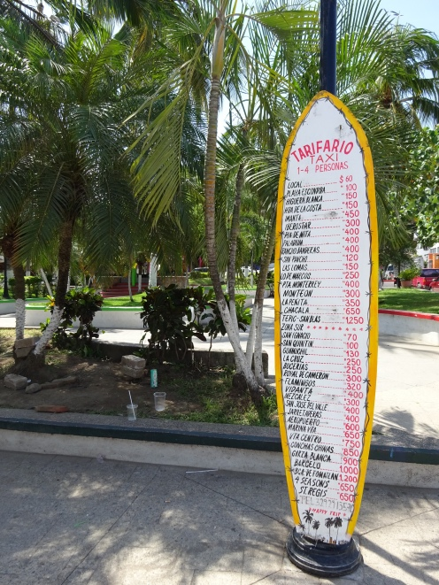 Taxi fares on a surfboard
