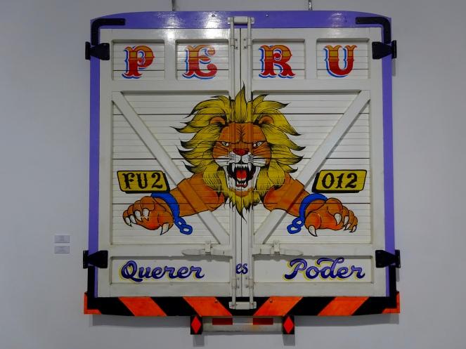 Miraflores gallery art - back of truck