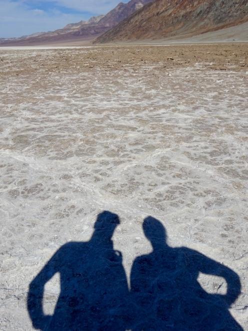 Salt flats at Badwater