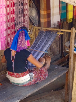 Making a sarong by hand