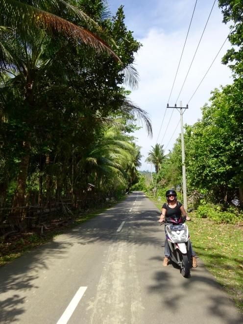 Cruising the island