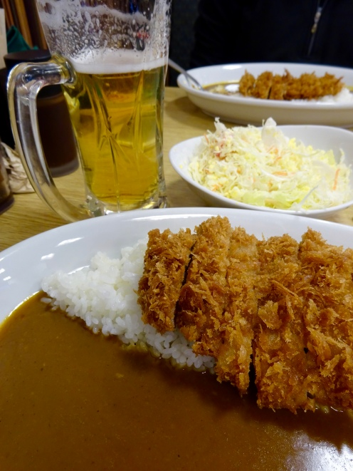 Katsu curry (and a beer)